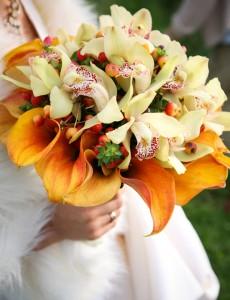 Orangefarbene – Brautsträuße