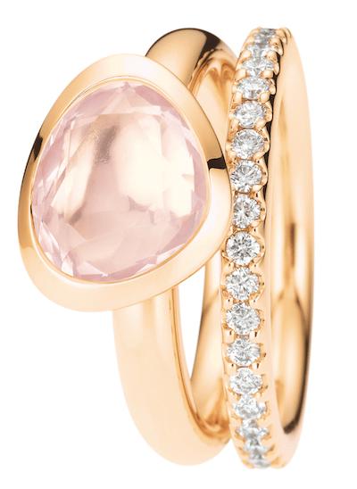Ring mit Rosenquarz von By Kim