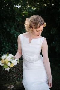 kurze Brautfrisur mit Wasserwelle