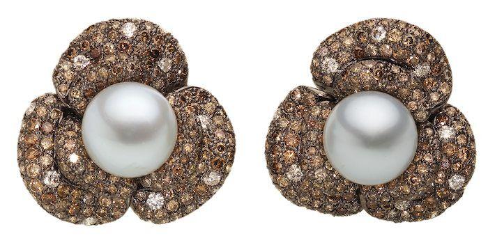 Luxuriöse Ohrringe mit Südsee-Zuchtperlen von Catherine Sauvage