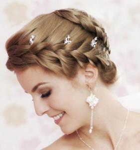 Brautfrisuren kurze haare hochgesteckt