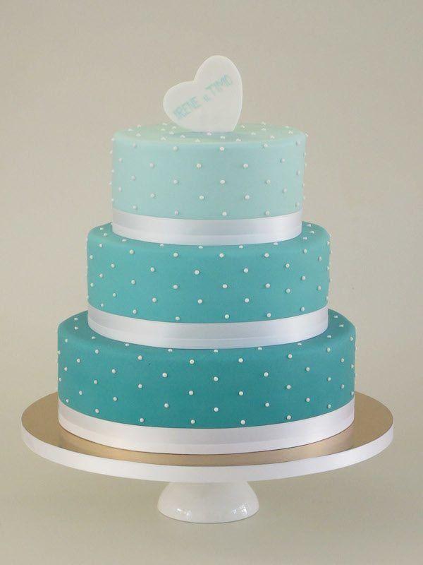 Hochzeitstorte in Blau