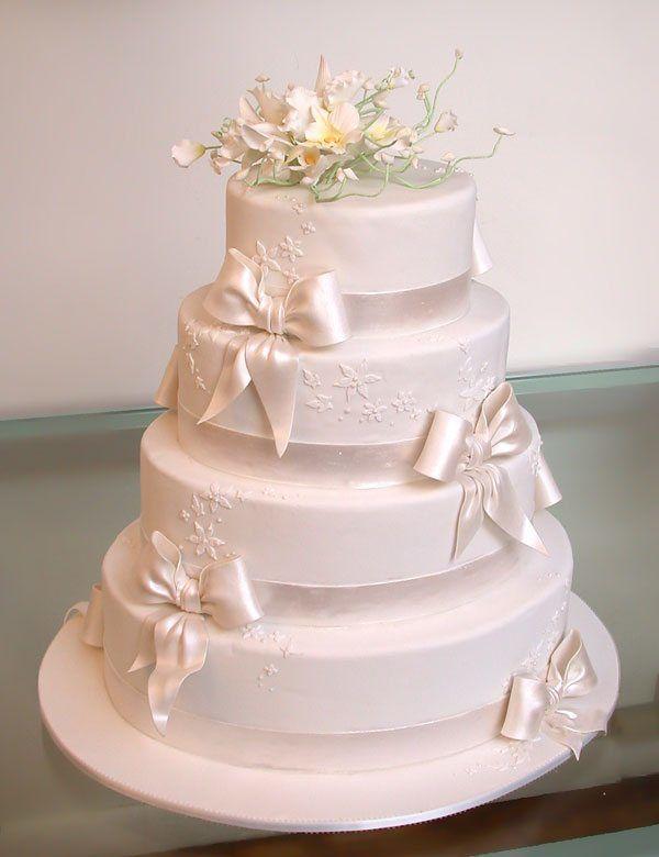 edle Hochzeitstorte
