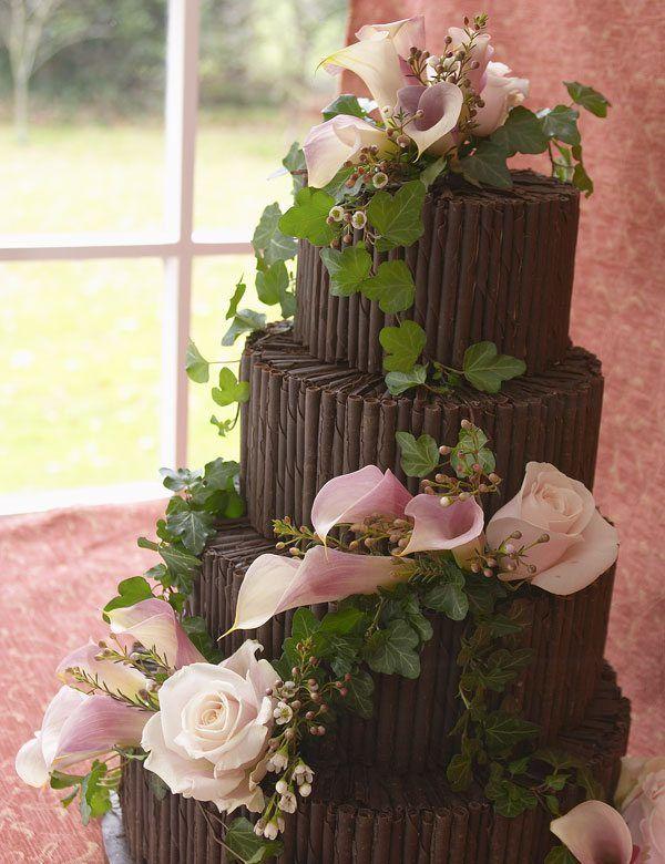 Hochzeitstorte aus Schokolade