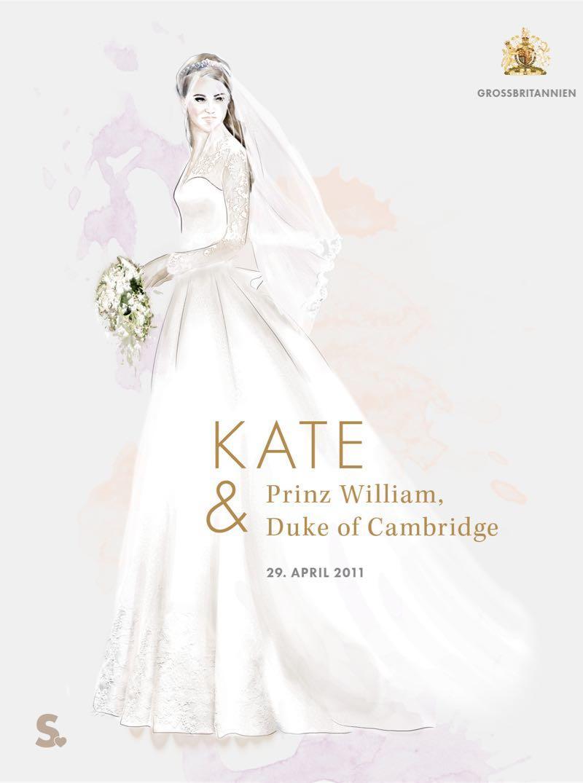 Herzogin Kate in ihrem Brautkleid