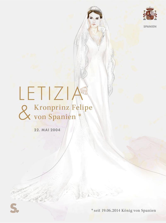 Letizia von Spanien in ihrem Brautkleid