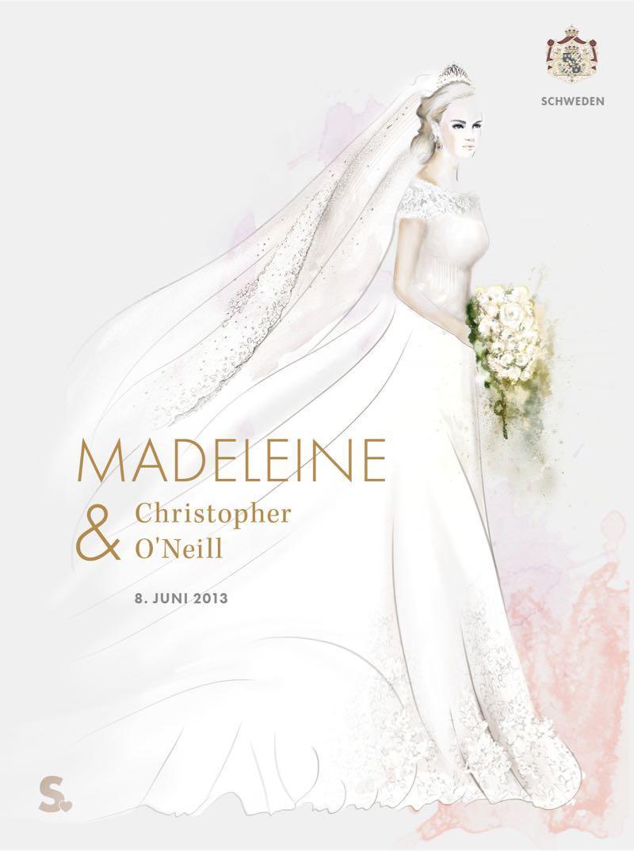 Prinzessin Madeleine in ihrem Brautkleid