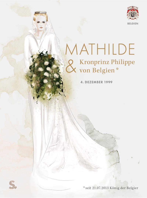 Mathilde von Belgien in ihrem Brautkleid