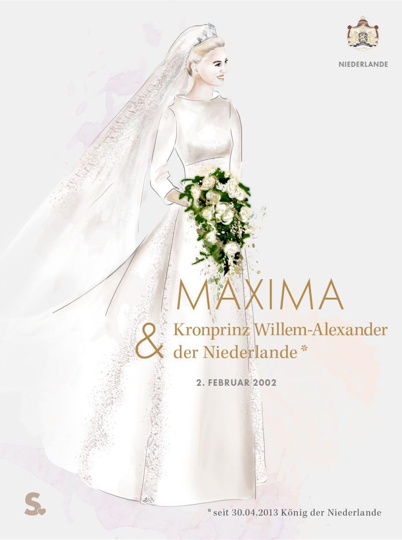 Maxima der Niederlande in ihrem Brautkleid