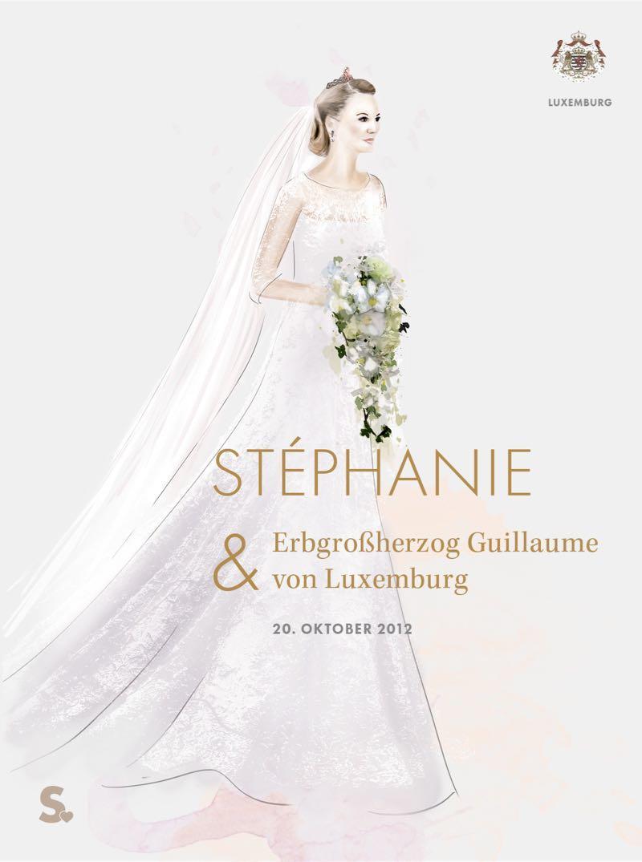 Stephanie von Luxemburg in ihrem Brautkleid
