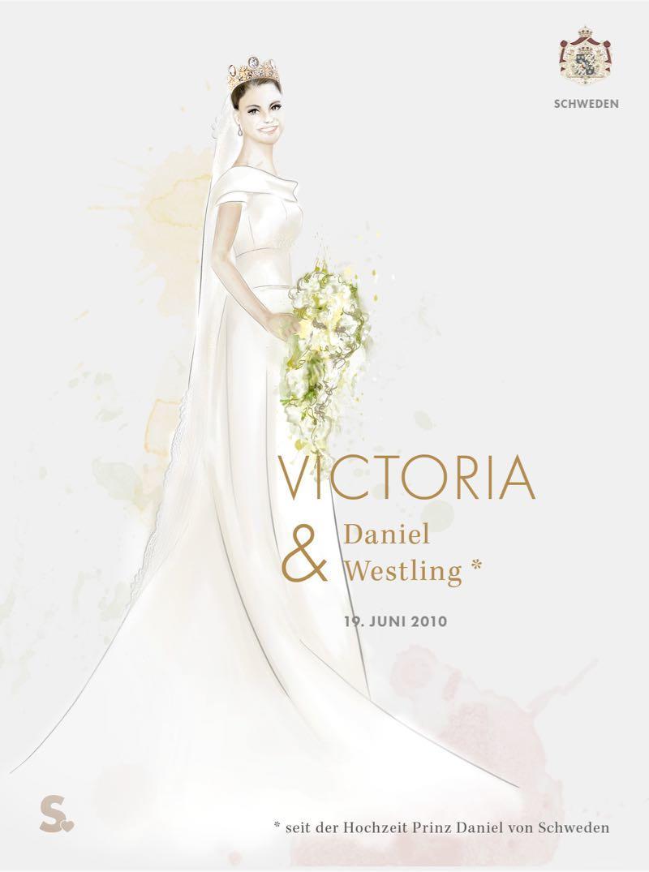 Victoria von Schweden in ihrem Brautkleid