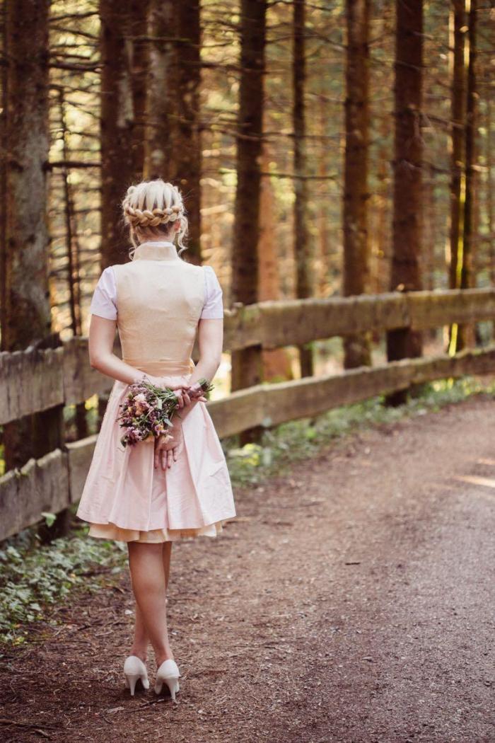 Flechtkranz als Brautfrisur