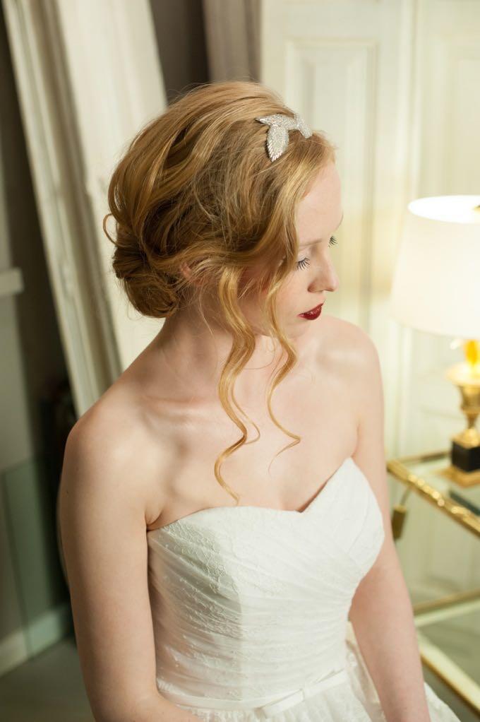 Brautfrisur im Vintage-Look