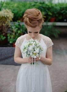 kunstvolle Brautfrisur