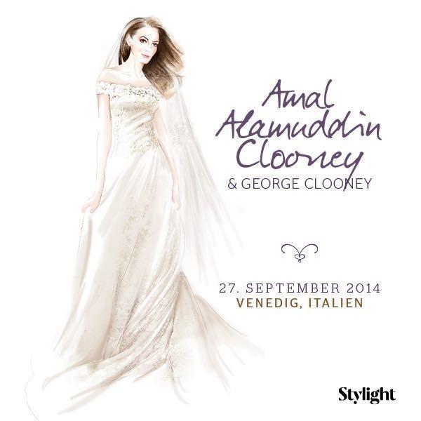 Amal Clooney im ihrem Brautkleid