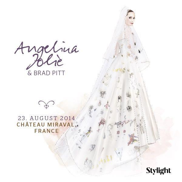 Angelina Jolie in ihrem Brautkleid