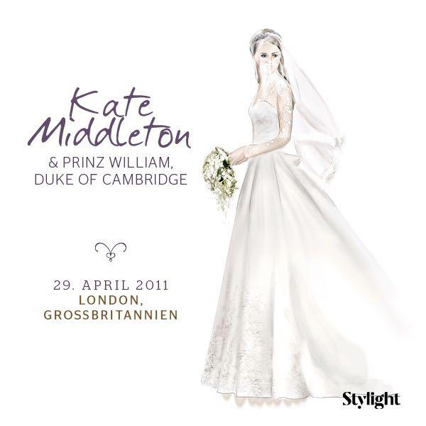 Kate Middleton in ihrem Brautkleid
