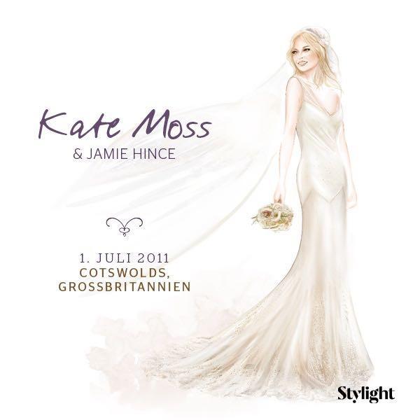 Kate Moss in ihrem Brautkleid