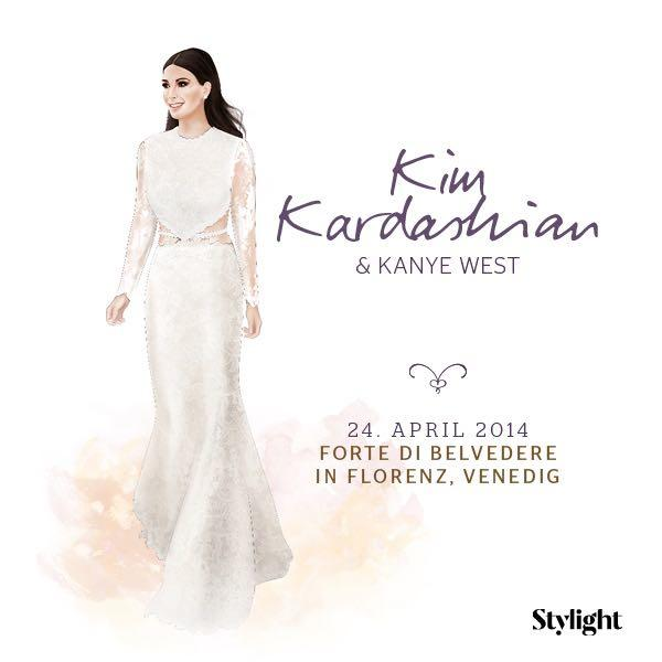 Kim Kardashian in ihrem Brautkleid
