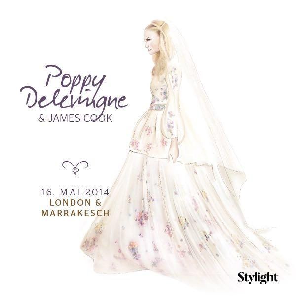Poppy Delevingne in ihrem Brautkleid