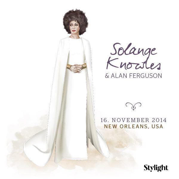 Solange Knowles in ihrem Brautkleid
