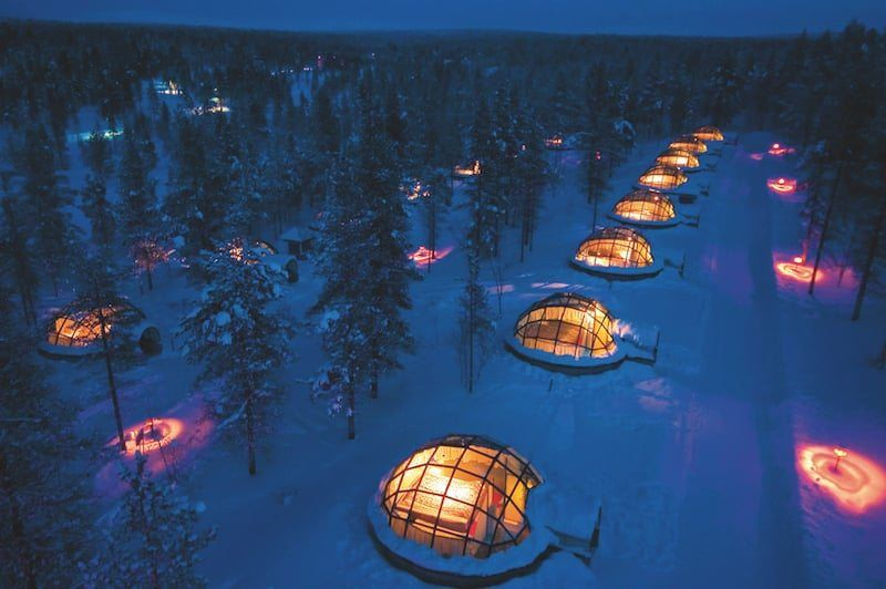 Hotel Igloo Village in Kakslauttanen, Finnland