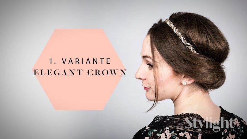 Brautjungfern Frisuren - Elegant Crown-Stylight