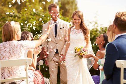 Brautpaar nach der Vermählung