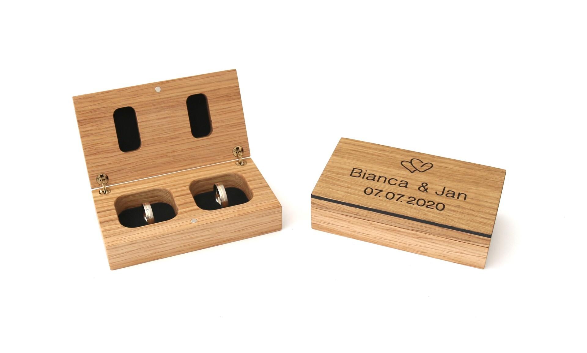 Ringbox aus Holz von Streifholz