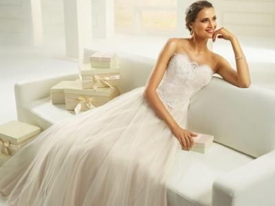 Bianco Evento Kleid ISABELLE in champagne
