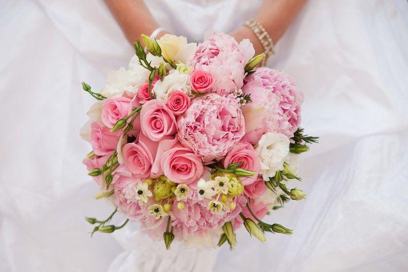 Brautstrauß modern rosa
