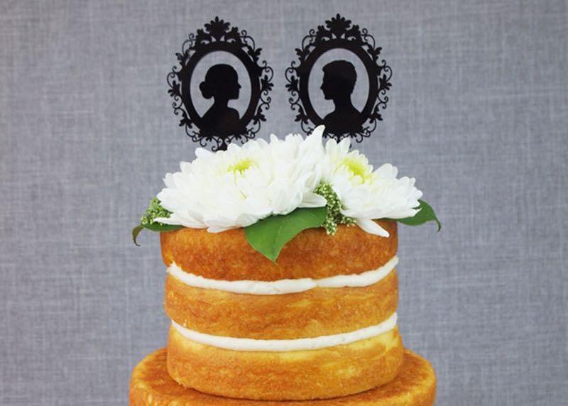 Scherenschnitt Tortenfigur für Hochzeit