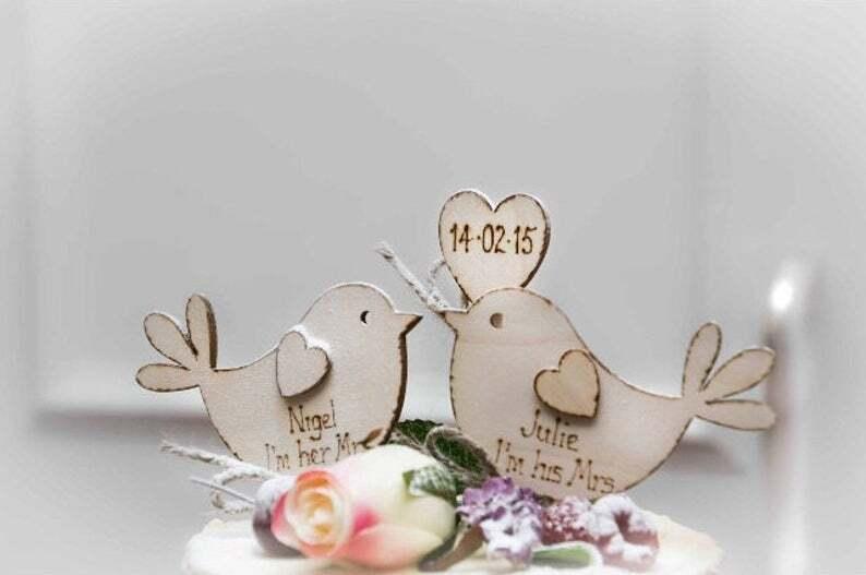 Tortenfigur für Hochzeit mit Vögeln
