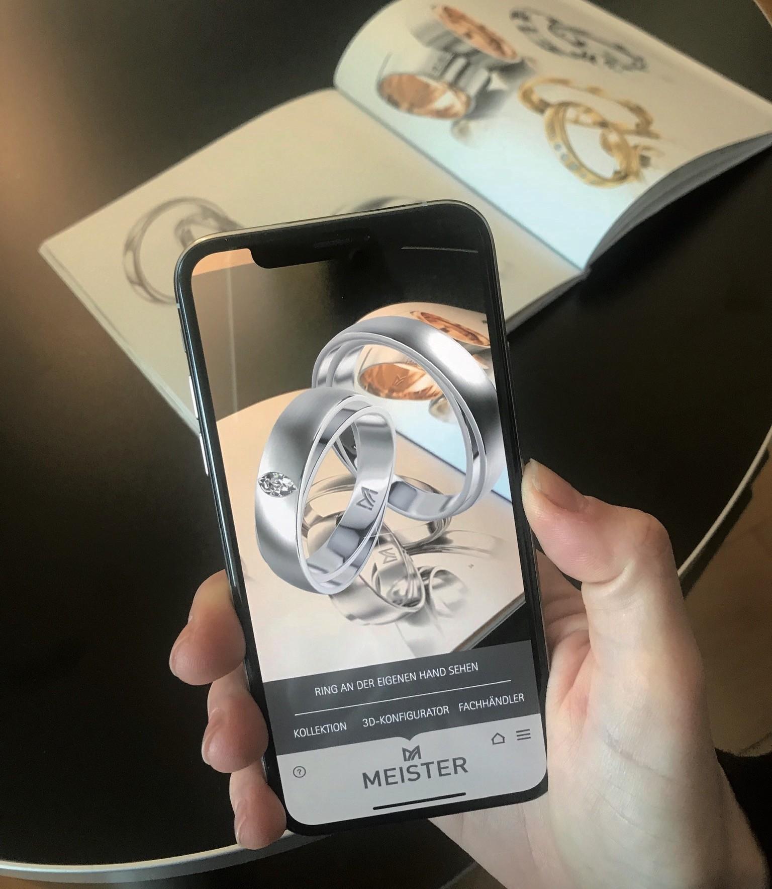 """""""Wedding Ring"""" kostenlose App der Schmuckmanufaktur Meister"""