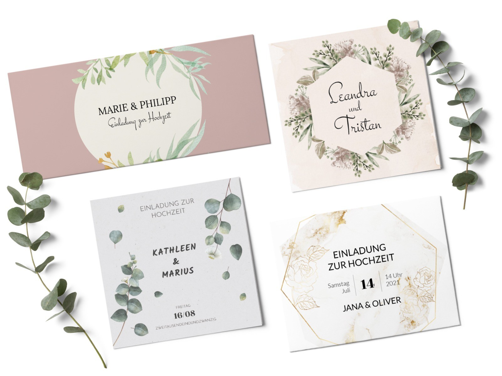 Hochzeits-Einladungskarten von karten.braut.de