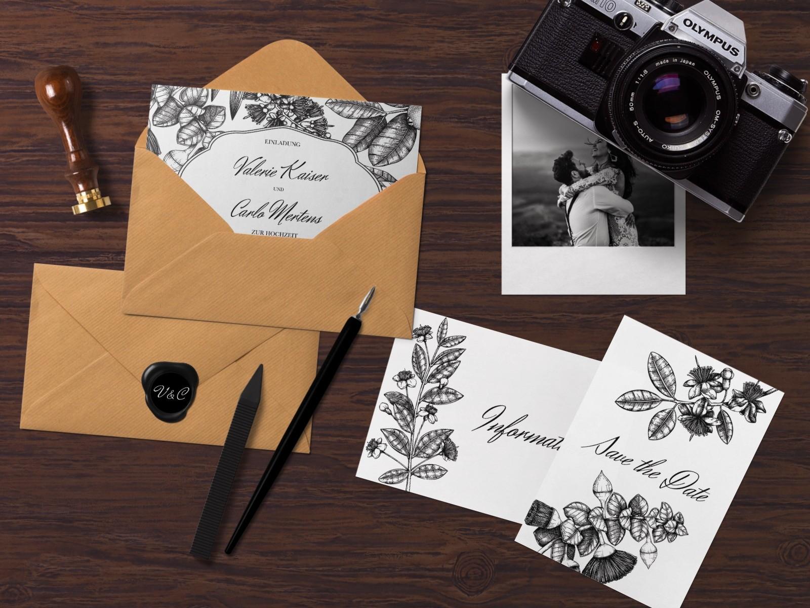 Save the date von karten.braut.de Motiv Vintage Flowers