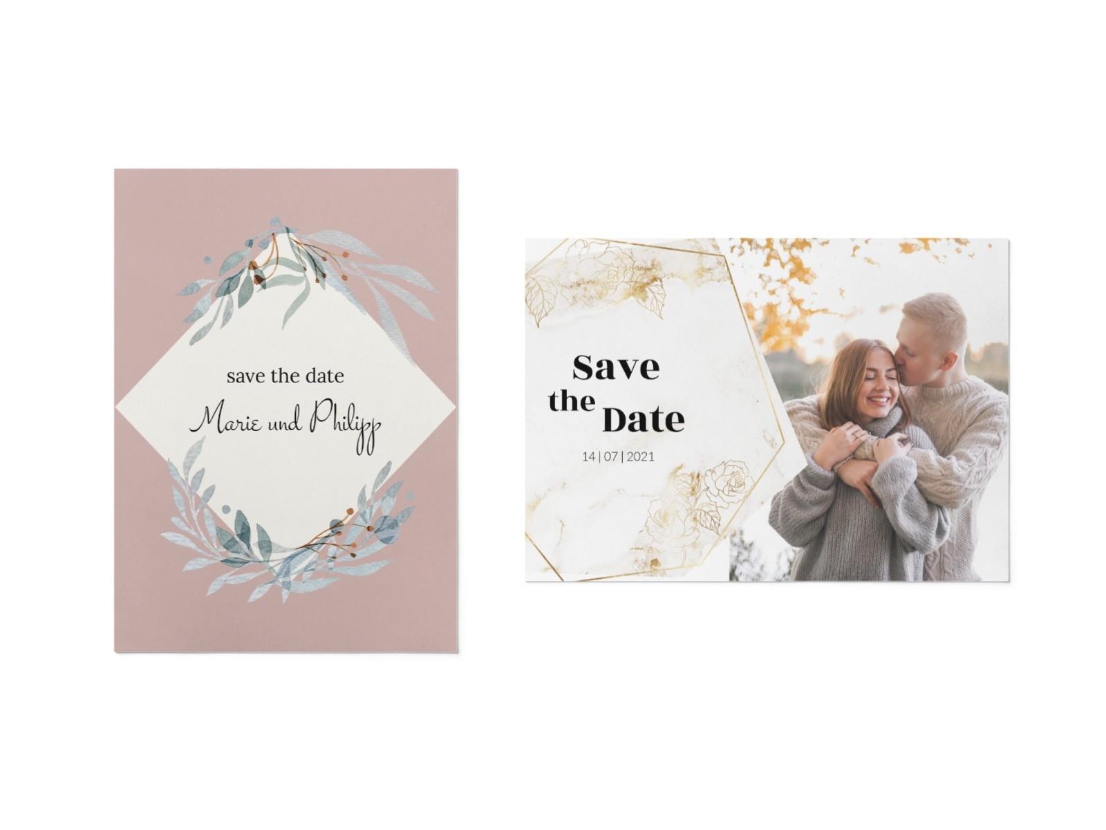 Save the date von karten.braut.de Motiv zartes Pastell und Marble