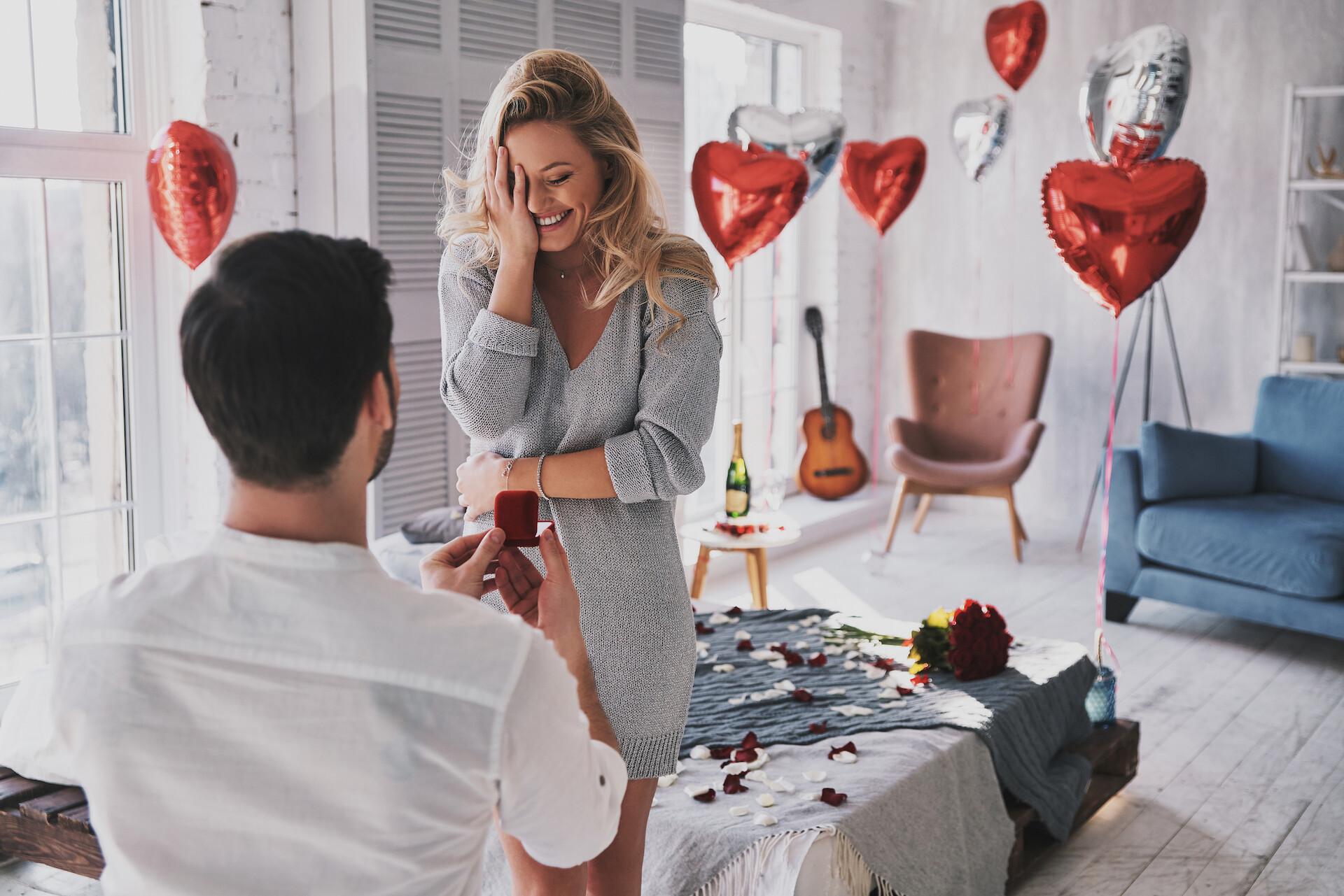 Heiratsantrag zuhause