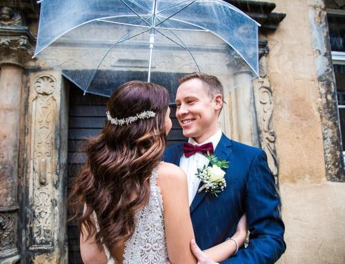 Hochzeitsinspiration: Brautpaarshooting im Regen