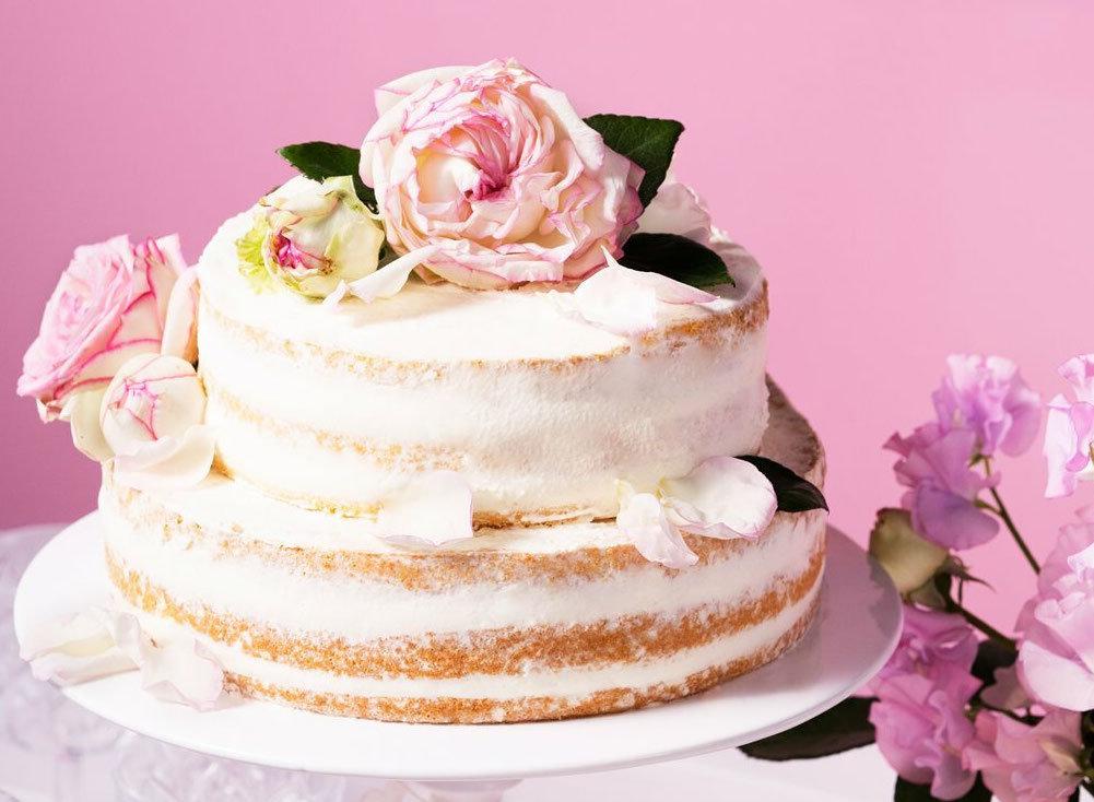 Naked Cake Hochzeitstorte selber backen