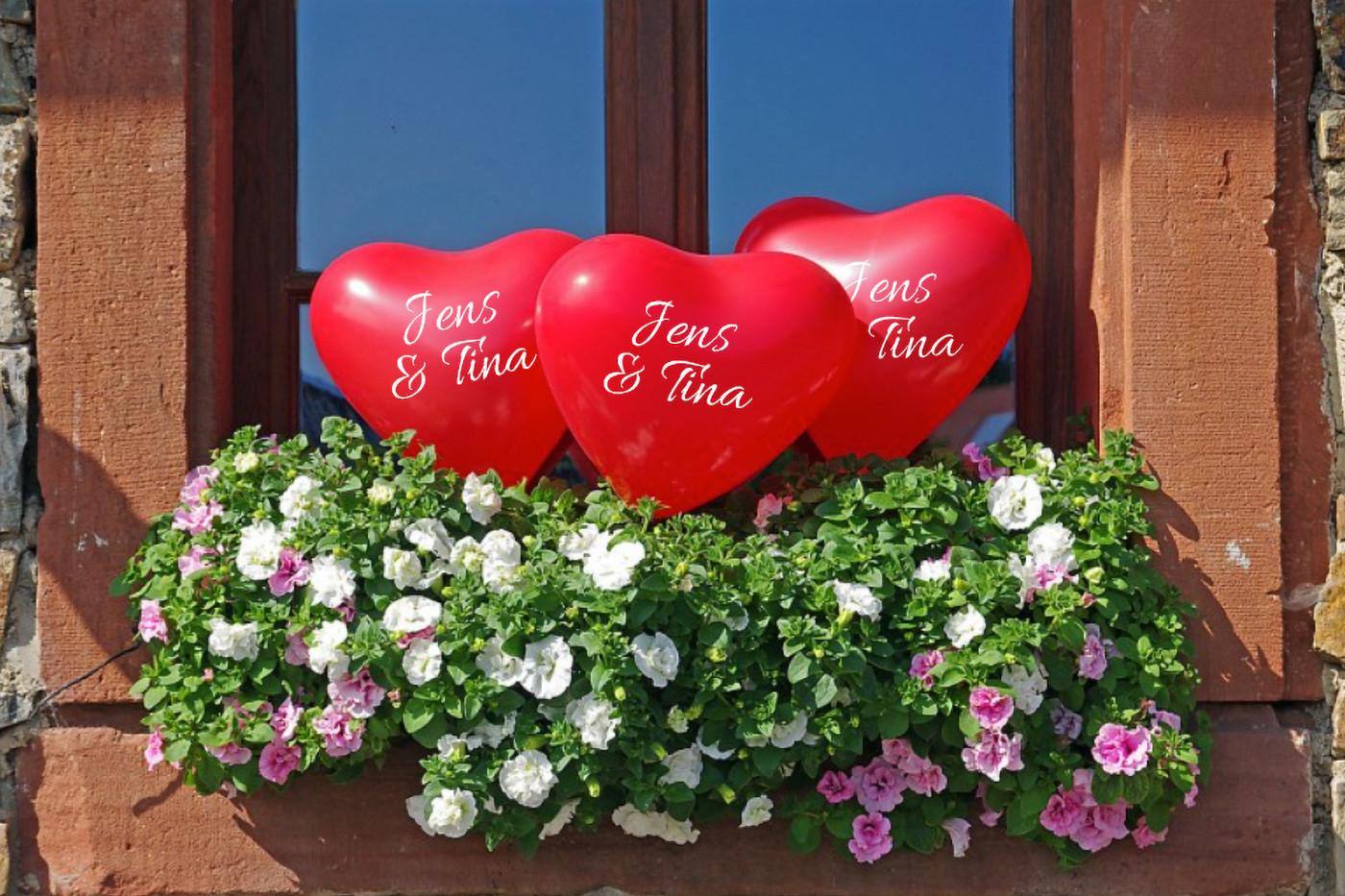 bedruckte Herzballons