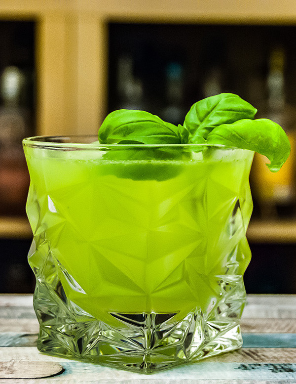 Gin Basil Smash Cocktail-Rezept