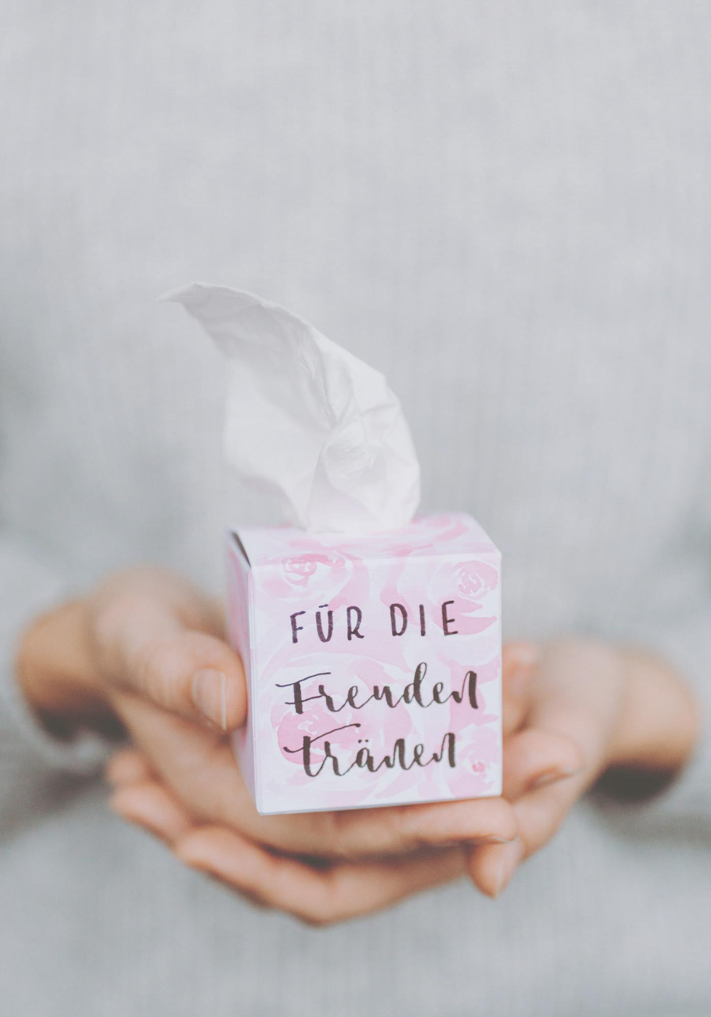 Taschentücherbox für Freudentränen