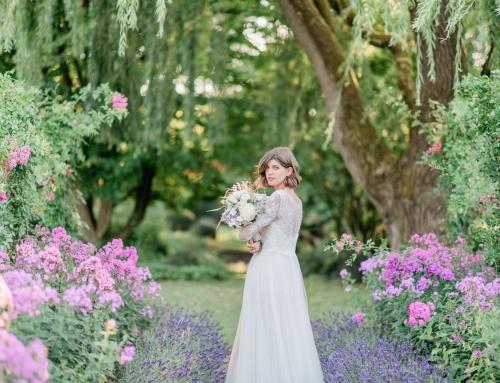 Styled Shoot: Brautporträts im Lavendelgarten