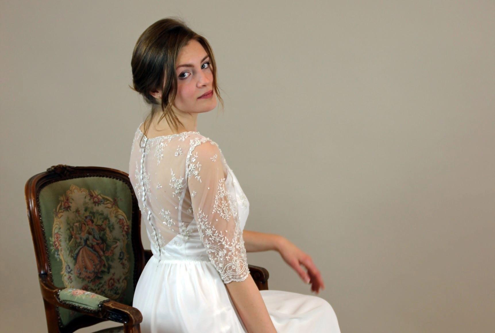 Orangejus-couture Brautkleid