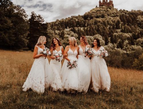 5 Freundinnen im Brautglück
