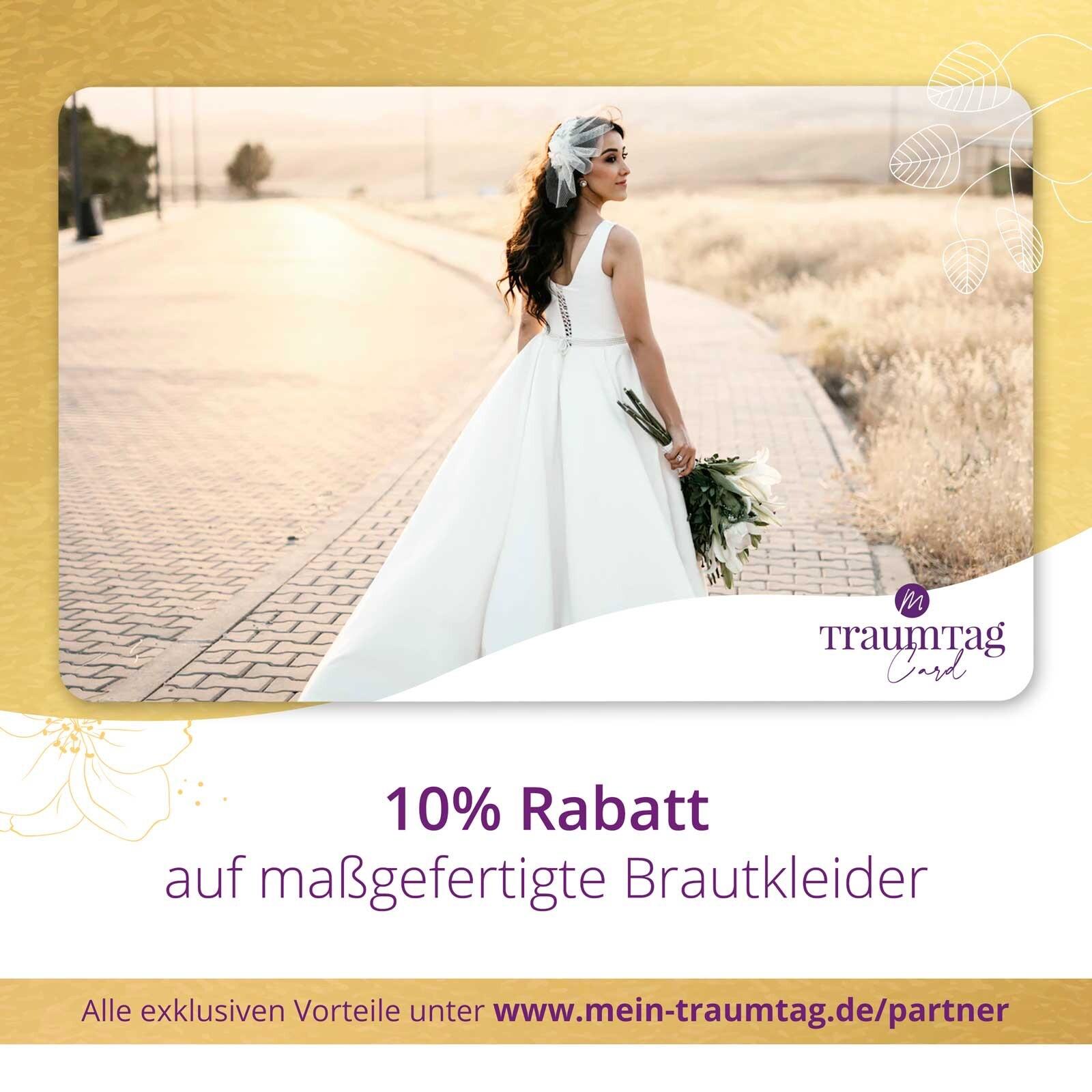Rabatt auf Brautkleider