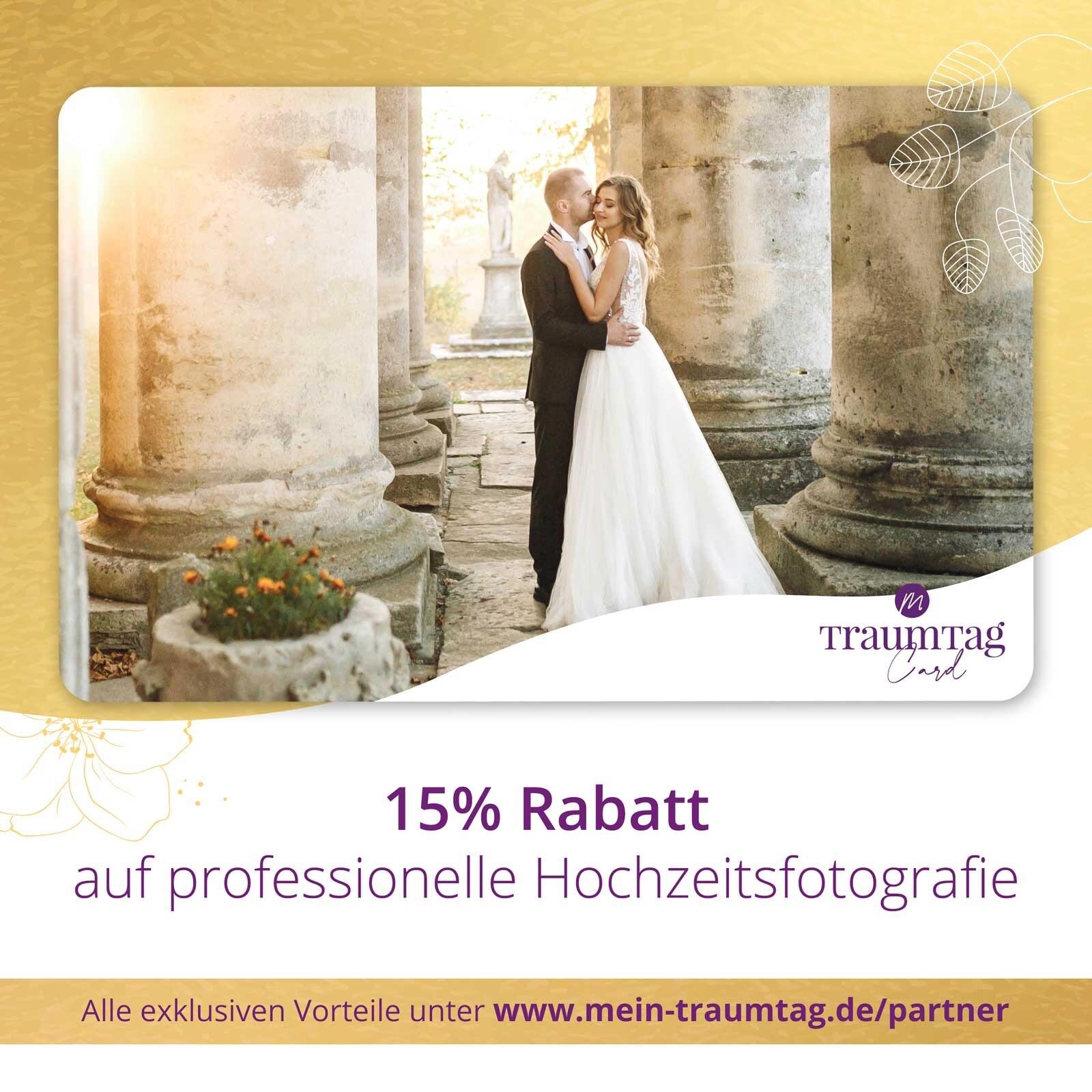 Rabatt auf Hochzeitsfotografie