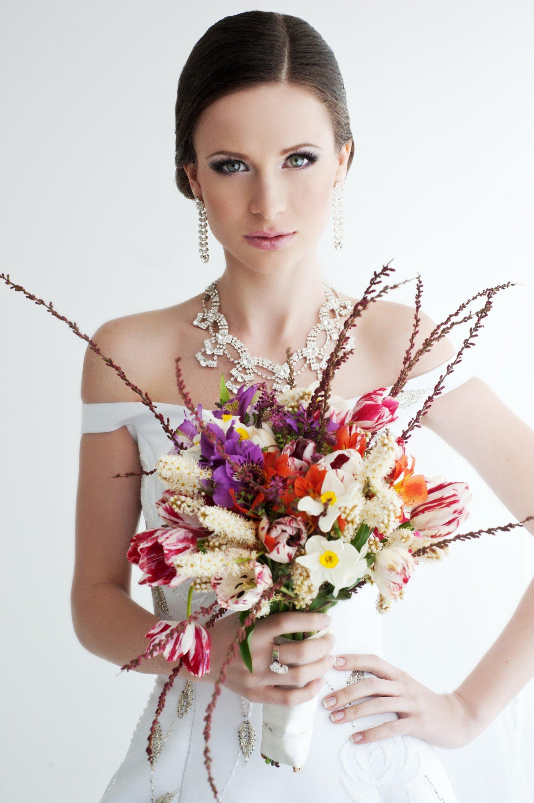Braut-Make-Up für den Wintertyp