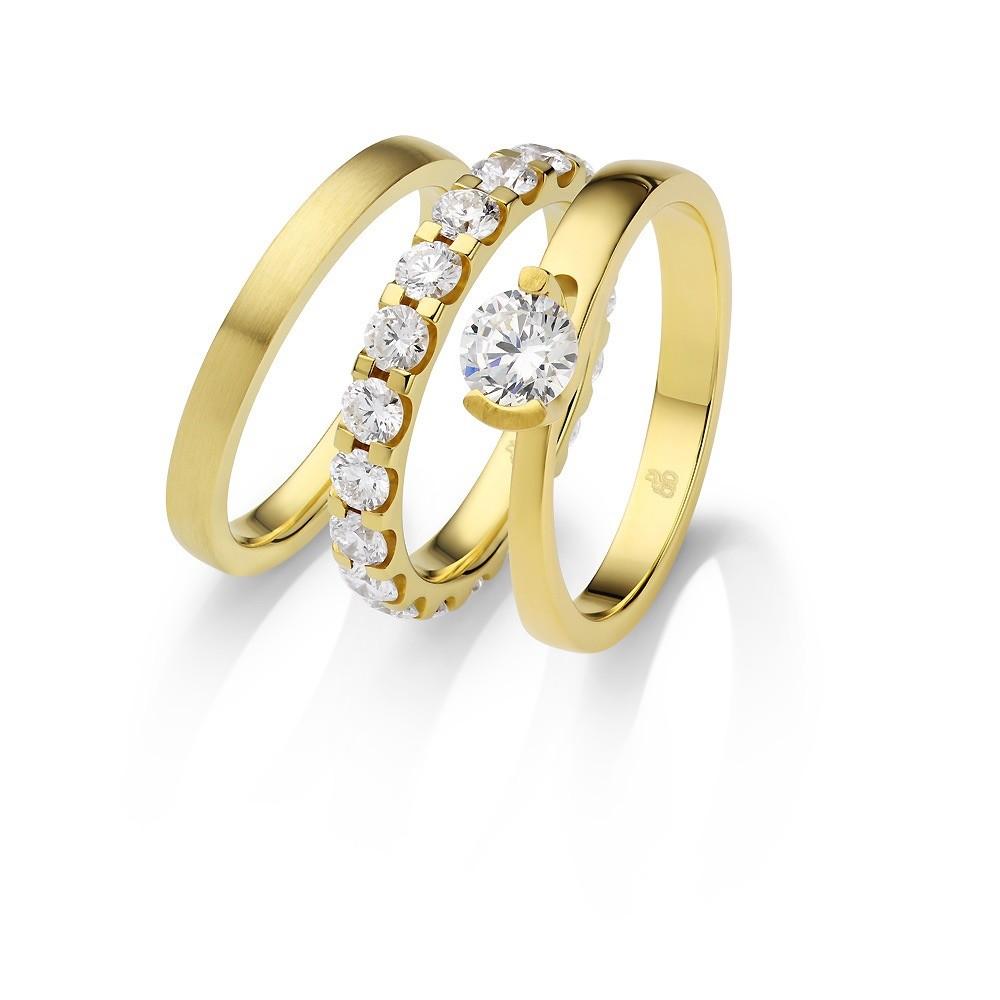 Rauschmayer – Ring-Set in Gelbgold
